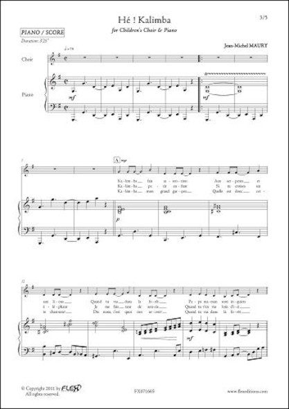 Hé ! Kalimba - J.-M. MAURY - Chorale d'Enfants et Piano