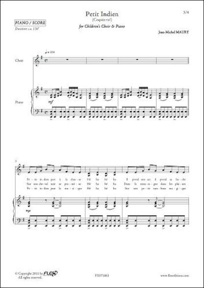 Petit Indien - J.-M. MAURY - Chorale d'Enfants et Piano