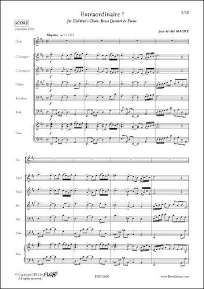 Extraordinaire ! - J.-M. MAURY - Chorale d'Enfants et Petit Ensemble