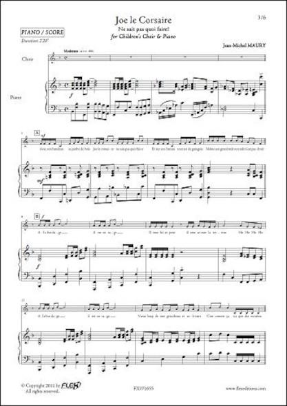 Joe le Corsaire - J.-M. MAURY - Chorale d'Enfants et Piano