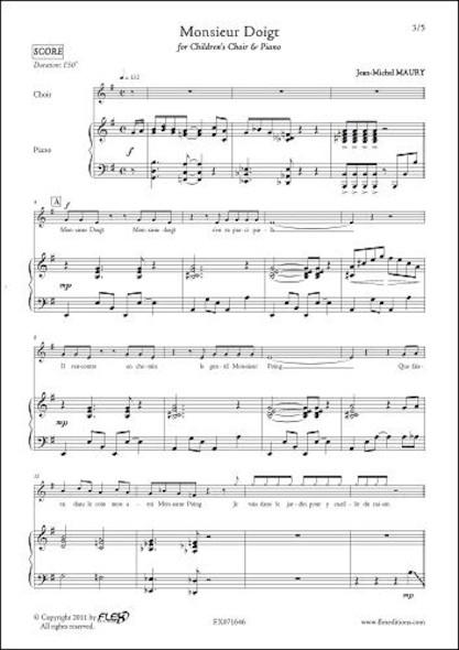 Monsieur Doigt - J.-M. MAURY - Chorale d'Enfants et Piano