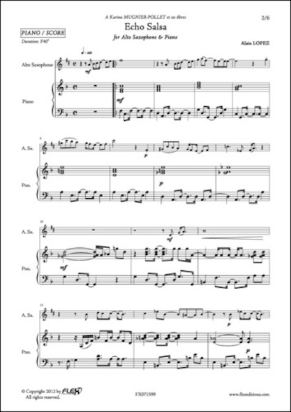 Echo Salsa - A. LOPEZ - Saxophone Alto et Piano