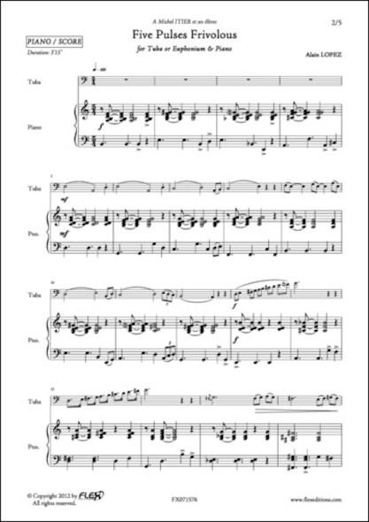 Five Pulses Frivolous - A. LOPEZ - Euphonium et Piano
