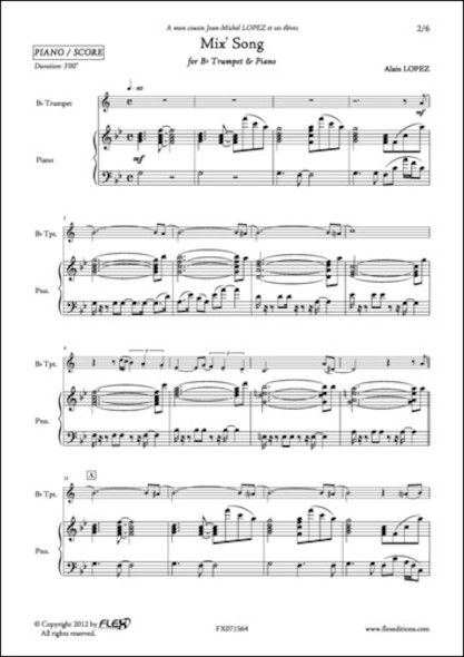 Mix' Song - A. LOPEZ - Trompette et Piano