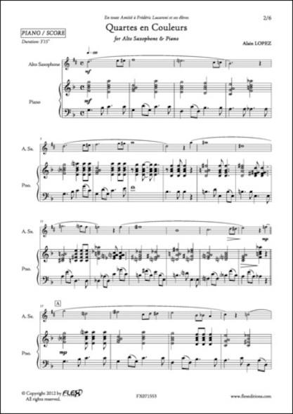 Quartes en Couleur - A. LOPEZ - Saxophone Alto et Piano