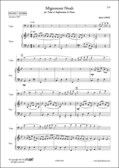 Mignonnet Noah - A. LOPEZ - Euphonium et Piano