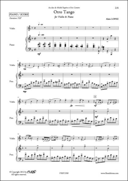Otro Tango - A. LOPEZ - Violon et Piano