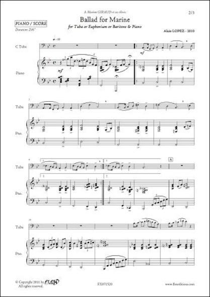 Ballad for Marine - A. LOPEZ - Saxhorn/Euphonium/Tuba & Piano