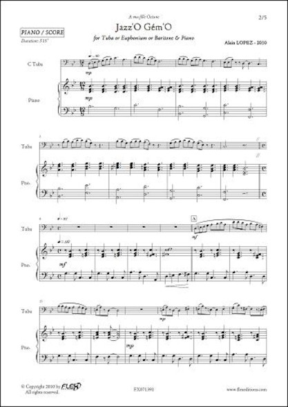 Jazz'O Gém'O - A. LOPEZ - Tuba/Euphonium/Baryton & Piano