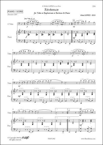 Révérence - A. LOPEZ - Tuba/Euphonium/Baryton & Piano