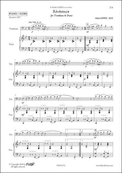 Révérence - A. LOPEZ - Trombone & Piano