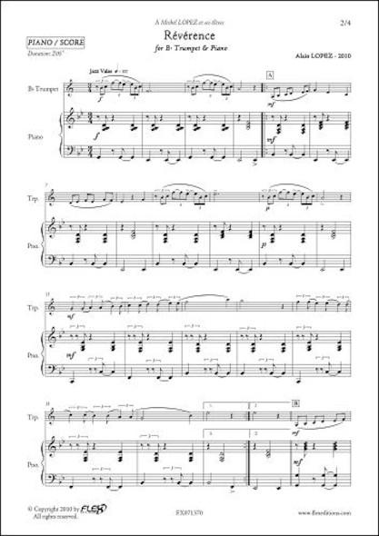 Révérence - A. LOPEZ - Trompette & Piano