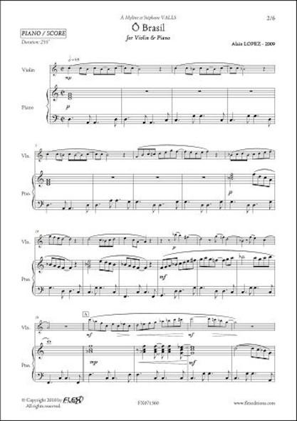 Ô Brasil - A. LOPEZ - Violon & Piano