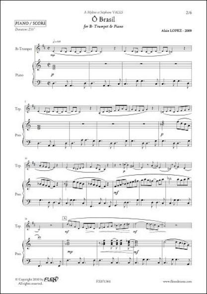 Ô Brasil - A. LOPEZ - Trompette & Piano