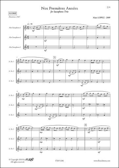 Nos Premières Années - A. LOPEZ - Trio de Saxophones