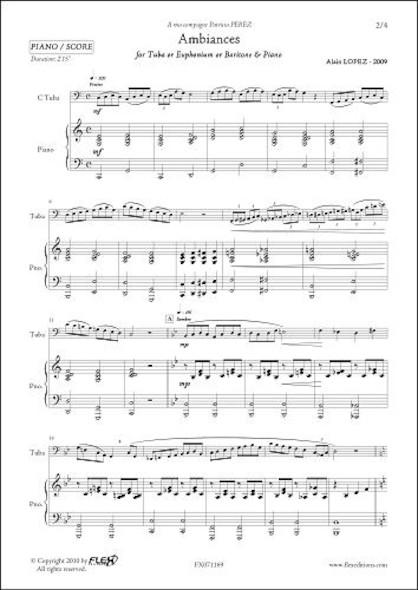 Ambiances - A. LOPEZ - Saxhorn/Euphonium/Tuba & Piano