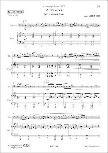 Ambiances - A. LOPEZ - Trombone & Piano