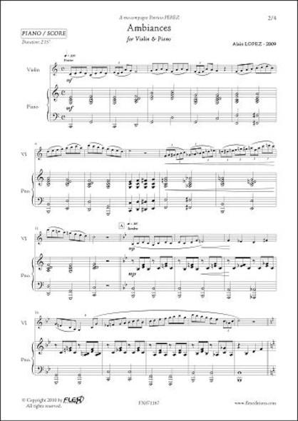 Ambiances - A. LOPEZ - Violon & Piano