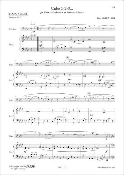 Cube 1-2-3... - A. LOPEZ - Tuba/Euphonium/baryton & Piano