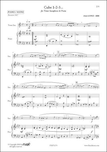 Cube 1-2-3... - A. LOPEZ - Saxophone Ténor & Piano