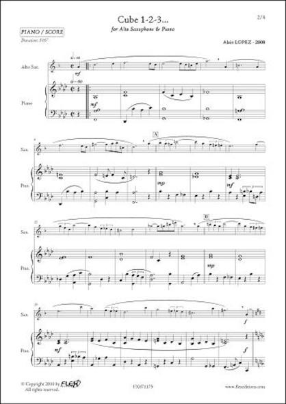 Cube 1-2-3... - A. LOPEZ - Saxophone Alto & Piano