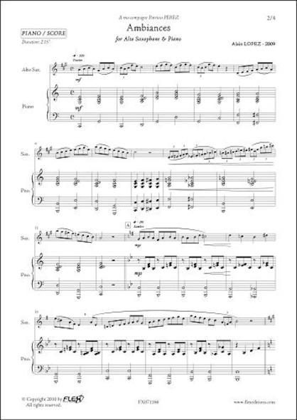 Ambiances - A. LOPEZ - Saxophone Alto & Piano