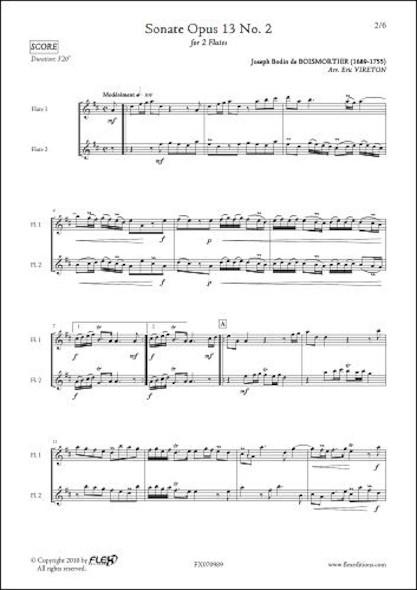 Sonate Opus 13 No. 2 - J.B. BOISMORTIER - Duo de Flûtes