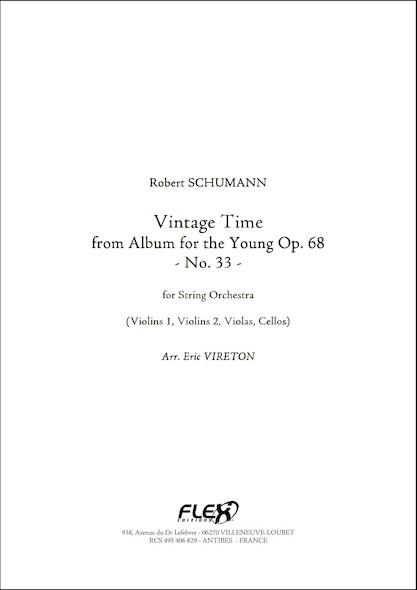 Le Temps de la Vendange - R. SCHUMANN -  Orchestre à Cordes