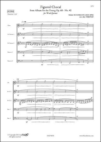 Deuxième Choral - R. SCHUMANN - Quintette à Vent