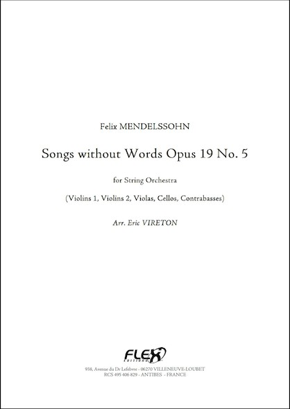Romances sans Paroles Opus 19 No. 5 - F. MENDELSSOHN -  Orchestre à Cordes