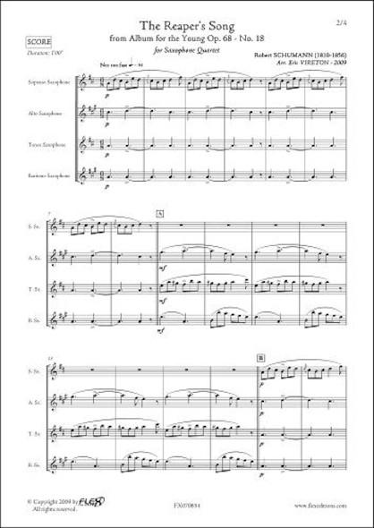 Chant du Faucheur - R. SCHUMANN - Quatuor de Saxophones
