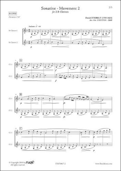 Sonatine - Mouvement 2 - D. STEIBELT - Duo de Clarinettes