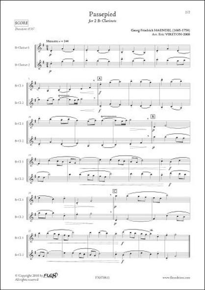 Passepied - G.F. HAENDEL - Duo de Clarinettes