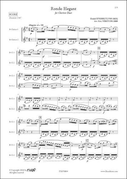 Rondo Elegant - D. STEIBELT - Duo de Clarinettes