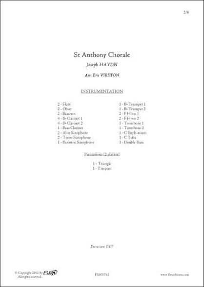 Choral de Saint Antoine - J. HAYDN - Orchestre d'Harmonie