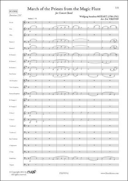 Marche du Cortège de la Flûte Enchantée - W. A. MOZART - Orchestre d'Harmonie