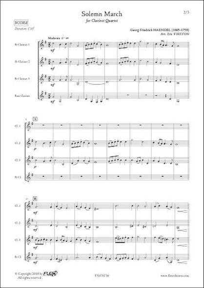 Marche Solennelle - G.F. HAENDEL - Quatuor de Clarinettes