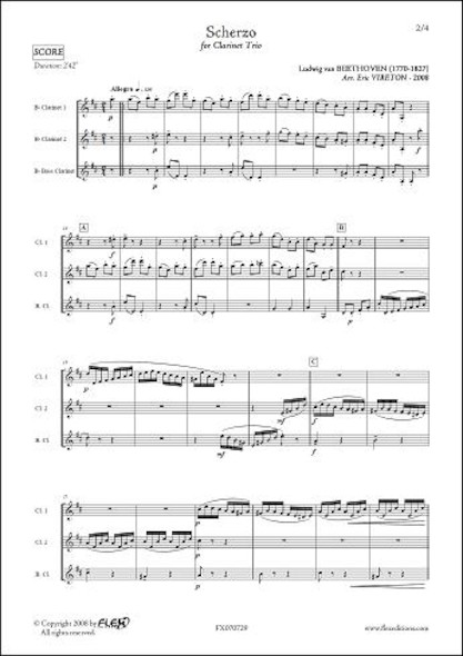 Scherzo - L.V BEETHOVEN - Trio de Clarinettes