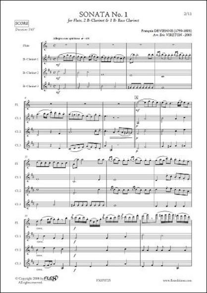 Sonate No. 1 - F. DEVIENNE - Flûte Solo & Trio de Clarinettes