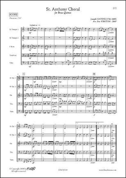 Choral de Saint Antoine - J. HAYDN - Quintette de Cuivres
