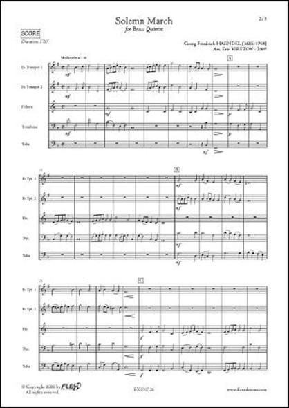 Marche Solennelle - G.F. HAENDEL - Quintette de Cuivres