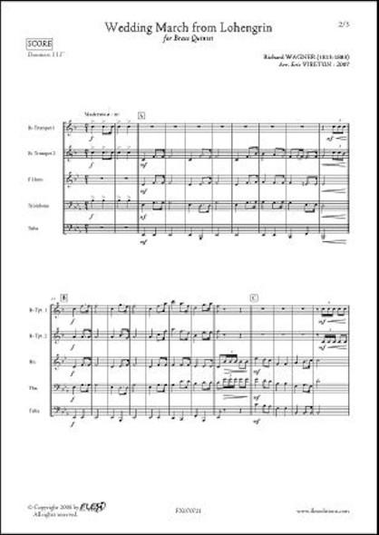 Marche Nuptiale de Lohengrin - R. WAGNER - Quintette de Cuivres