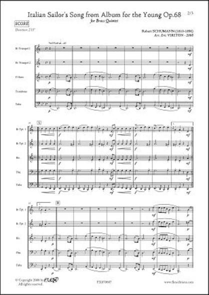 Chants de Matelots - R. SCHUMANN - Quintette de Cuivres