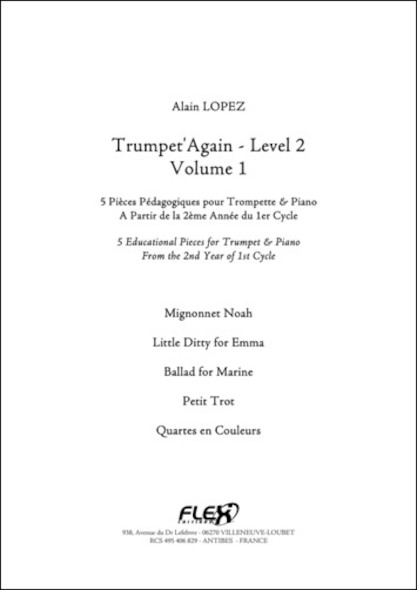 Trumpet'Again - Niveau 2 - Volume 1 - A. LOPEZ - Trompette et Piano