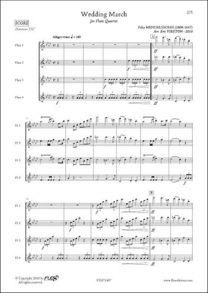 Marche Nuptiale - F. MENDELSSOHN -  Quatuor de Flûtes