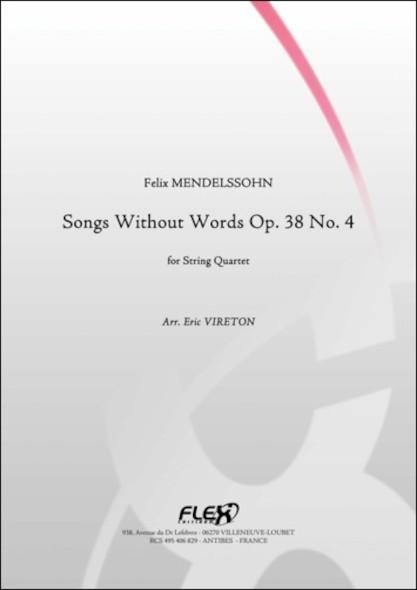 Romances Sans Paroles Opus 38 No. 4 - F. MENDELSSOHN - Quatuor à Cordes