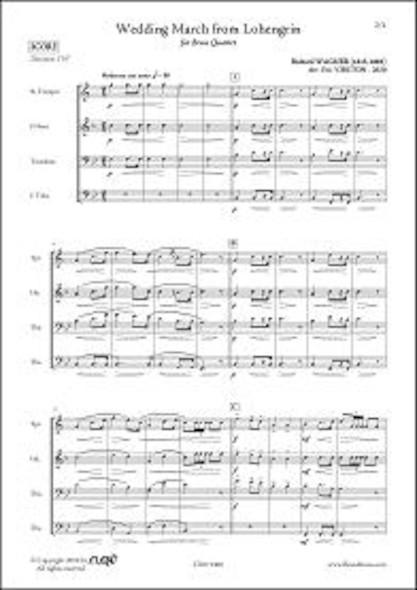 Marche Nuptiale de Lohengrin - R. WAGNER -  Quatuor de Cuivres