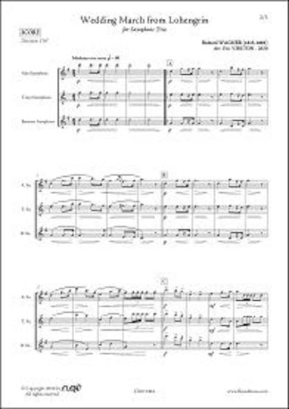 Marche Nuptiale de Lohengrin - R. WAGNER -  Trio de Saxophones