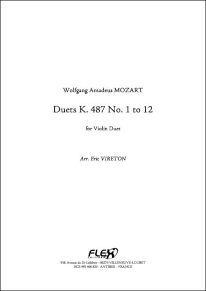 Duet K 487 - W. A. MOZART - Duo de Violons