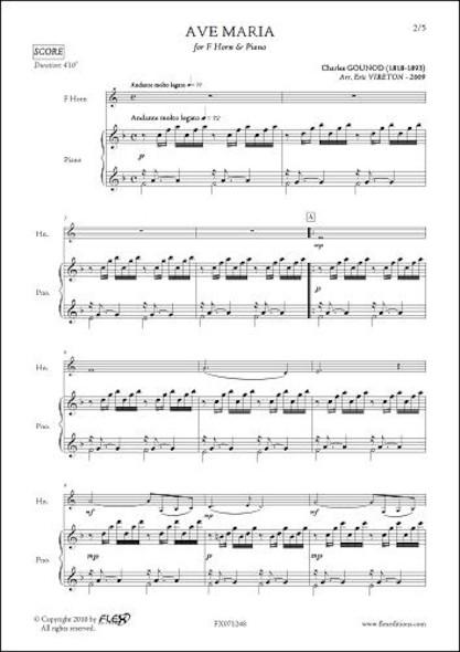 Ave Maria - C. GOUNOD - Cor & Piano